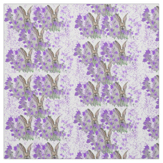 Hares in the Heather Fabric
