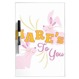 Hares To You Dry Erase White Board