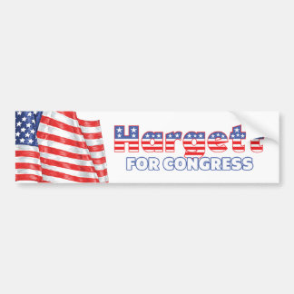 Hargett for Congress Patriotic American Flag Bumper Sticker
