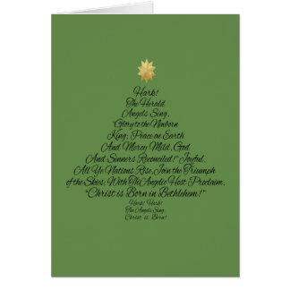 Hark the Herald Angels Sing Christmas Tree Card
