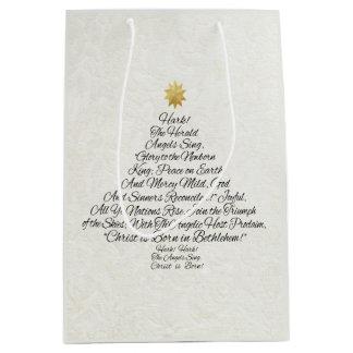 Hark the Herald Angels Sing Christmas Tree Medium Gift Bag