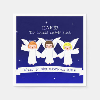 Hark! The Herald Angels Sing Glory To Newborn King Disposable Napkins