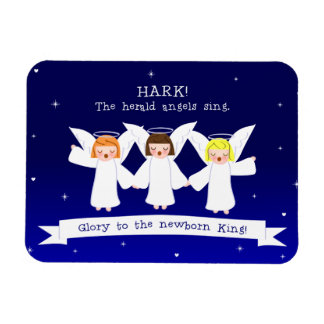 Hark! The Herald Angels Sing Glory To Newborn King Magnet