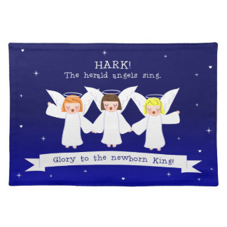 Hark! The Herald Angels Sing Glory To Newborn King Placemat