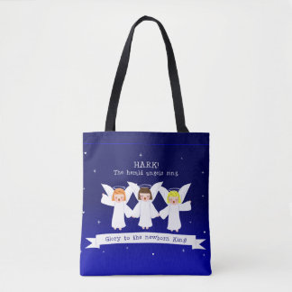 Hark! The Herald Angels Sing Glory To Newborn King Tote Bag
