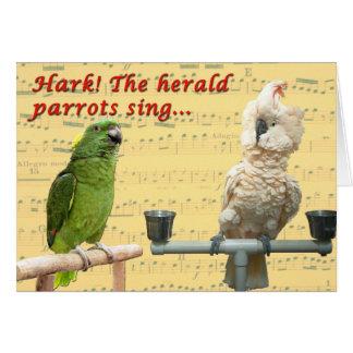 Hark the Parrots Card