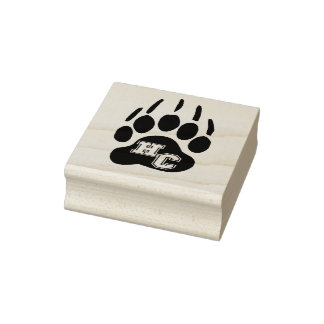 Harlan County high school  Black Bears kentucky Rubber Stamp
