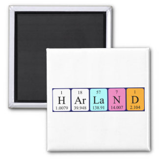 Harland periodic table name magnet