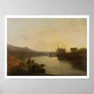 Harlech Castle, from Twgwyn Ferry, Summer's Evenin Poster