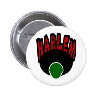 Harlem Graffiti With Face & Big Afro, 3 Colors Pin