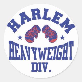 Harlem Heavyweight Blue Classic Round Sticker