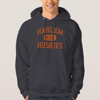 Harlem - Huskies - High - Machesney Park Illinois Hoodie