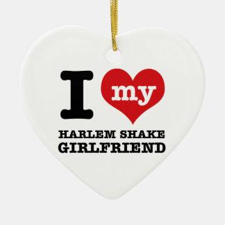 harlem Shake dance Girlfriend designs Ceramic Heart Decoration