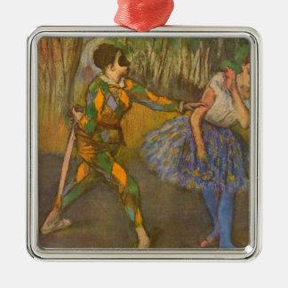 Harlequin and Columbine by Edgar Degas Vintage Art Metal Ornament