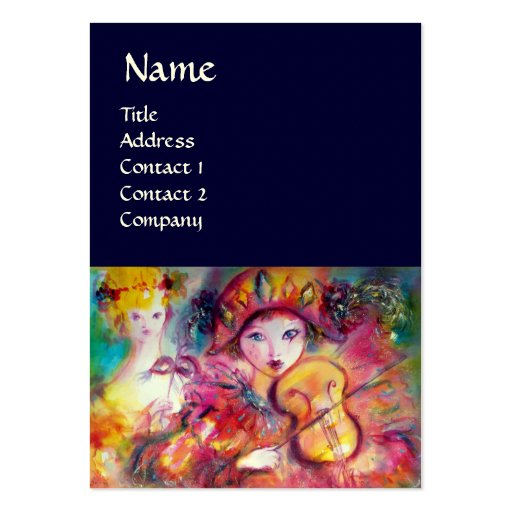 HARLEQUIN AND COLUMBINE Music,Decor,Theater Artist Business Card Templates