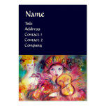 HARLEQUIN AND COLUMBINE Music,Decor,Theatre Artist Business Card Templates