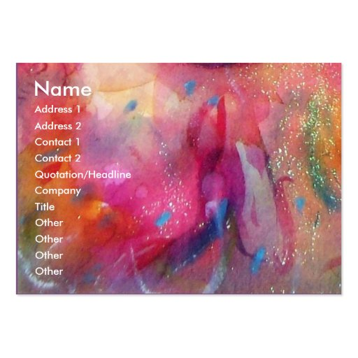 HARLEQUIN AND COLUMBINE Music,Decor,Theatre Artist Pack Of Chubby Business Cards