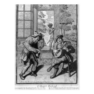 Harlequin and Scaramouche Postcard