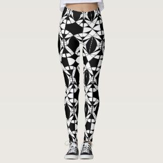 Harlequin Black and White Leggings Neutral Women's