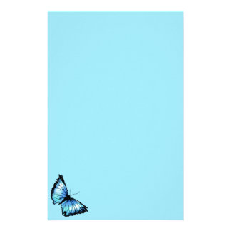 """Harlequin"" (Blue Butterfly) Stationery"