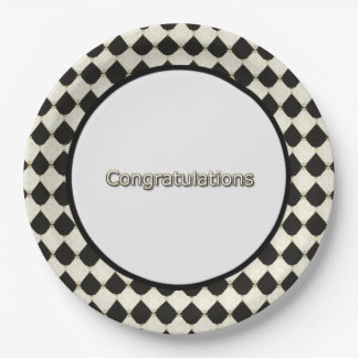 Harlequin_Diamond-Congrats-_Party-Supplies Paper Plate