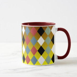 Harlequin Diamond Pattern Mug