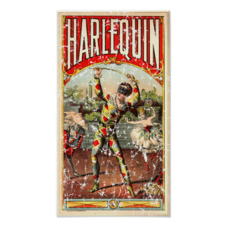 Harlequin - distressed poster