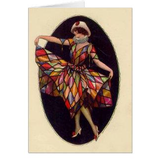 Harlequin Dress Card