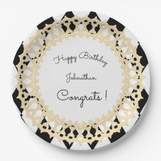Harlequin-Gold_Celebration_Shield_Template Paper Plate