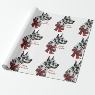 Harlequin Great Dane Christmas Wrapping Paper