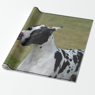 Harlequin Great Dane Wrapping Paper