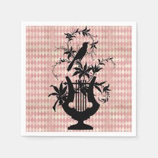 Harlequin Harp Bird Silhouette Cocktail Napkins Disposable Serviette