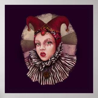 Harlequin Jester Poster