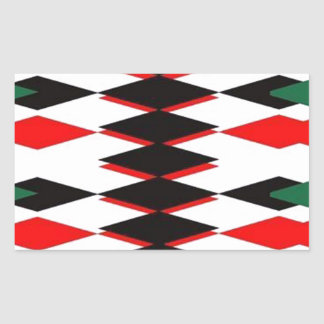 Harlequin Jokers Deck Rectangular Sticker