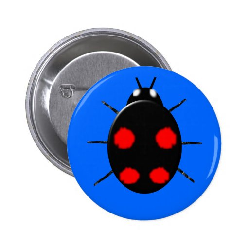Harlequin Ladybird Button