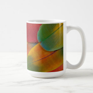 Harlequin Macaw parrot feathers Coffee Mug