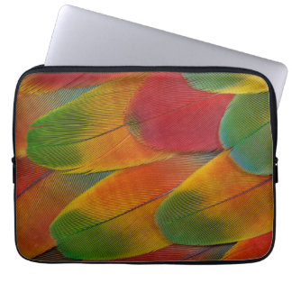 Harlequin Macaw parrot feathers Laptop Computer Sleeves