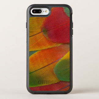 Harlequin Macaw parrot feathers OtterBox Symmetry iPhone 8 Plus/7 Plus Case