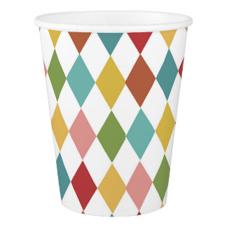Harlequin Paper Cup