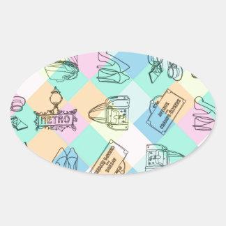 Harlequin Paris Shopping Sticker