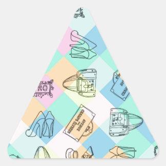 Harlequin Paris Shopping Triangle Sticker