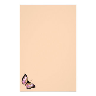 """Harlequin"" (Peach Butterfly) Stationery"