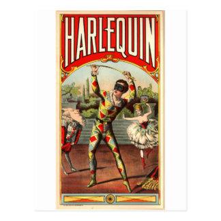 Harlequin Postcard