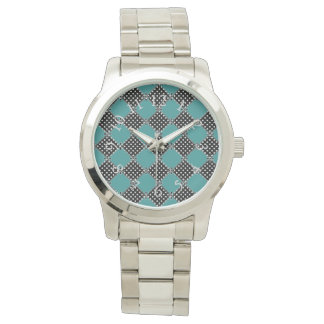 Harlequin_Quilt-Polka Dots-Teal Watch