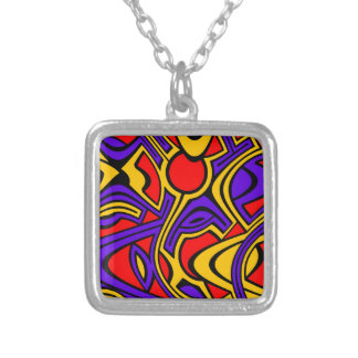 Harlequin Silver Plated Necklace