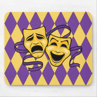Harlequin Theatre Masks Mouse Pad