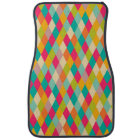 Harlequin vintage pattern car mat