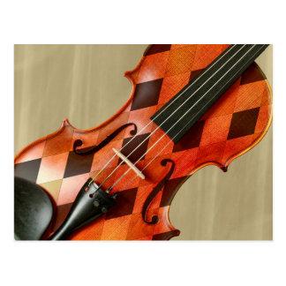 Harlequin Violin Postcard