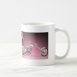 Harley Bike Pink Ribbon Breast Cancer Basic White Mug