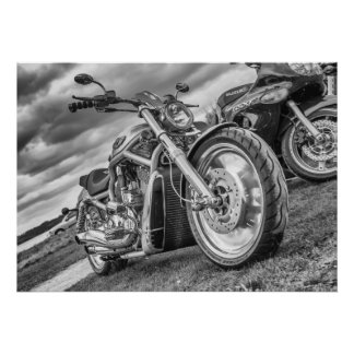 Harley Davidson - A Proper Biker's Bike Poster